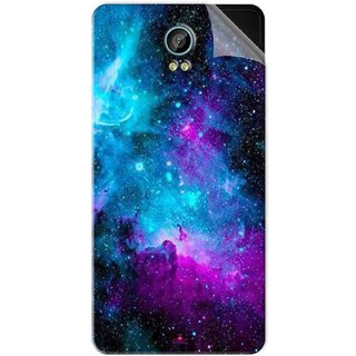 Snooky Printed Galaxie spirale Pvc Vinyl Mobile Skin Sticker For Intex Aqua Life 2