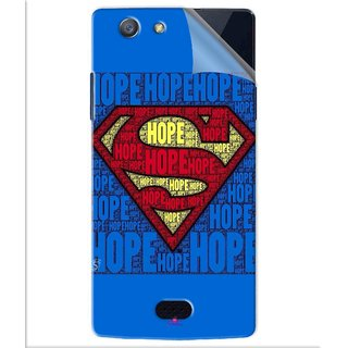 Snooky Printed Hope Super Man Pvc Vinyl Mobile Skin Sticker For Oppo Neo 5