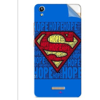 Snooky Printed Hope Super Man Pvc Vinyl Mobile Skin Sticker For Lava V1 Pixel