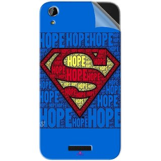 Snooky Printed Hope Super Man Pvc Vinyl Mobile Skin Sticker For Lava X1 Atom