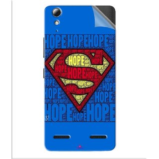Snooky Printed Hope Super Man Pvc Vinyl Mobile Skin Sticker For Lenovo A6010