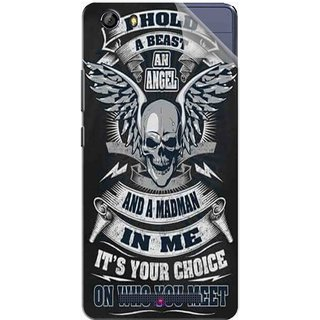 Snooky Printed I hold a best an angel Pvc Vinyl Mobile Skin Sticker For Gionee Marathon M5