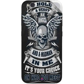 Snooky Printed I hold a best an angel Pvc Vinyl Mobile Skin Sticker For LYF Water 2