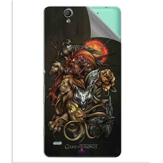 Snooky Printed game of thrones wallpaper Pvc Vinyl Mobile Skin Sticker For Sony Xperia C4