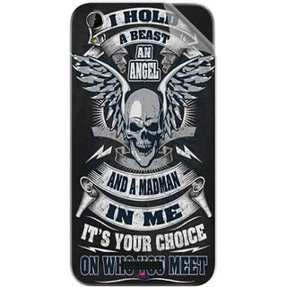 Snooky Printed I hold a best an angel Pvc Vinyl Mobile Skin Sticker For Lava X1 Atom