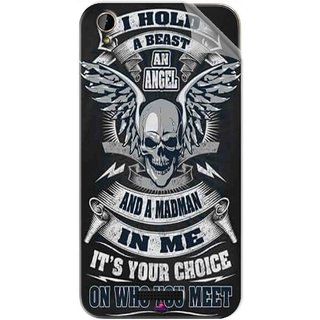 Snooky Printed I hold a best an angel Pvc Vinyl Mobile Skin Sticker For Lava X1 Mini