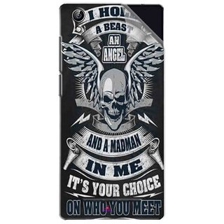 Snooky Printed I hold a best an angel Pvc Vinyl Mobile Skin Sticker For Vivo Y51L