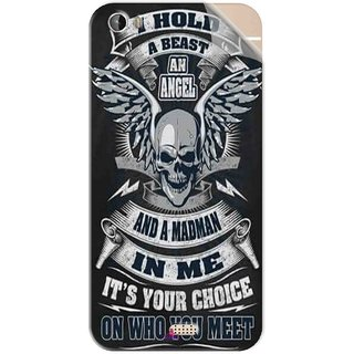 Snooky Printed I hold a best an angel Pvc Vinyl Mobile Skin Sticker For Intex Aqua Turbo 4G