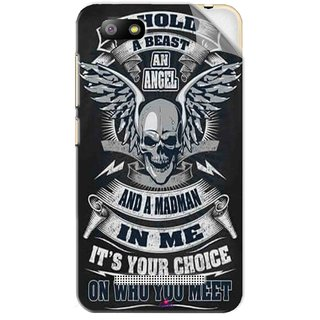 Snooky Printed I hold a best an angel Pvc Vinyl Mobile Skin Sticker For Lava Flair P3