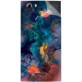 Snooky Printed iphone background Pvc Vinyl Mobile Skin Sticker For Micromax Canvas Play 4G Q469