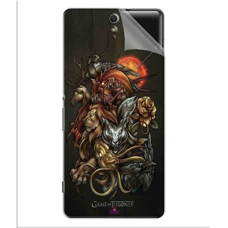 Snooky Printed game of thrones wallpaper Pvc Vinyl Mobile Skin Sticker For Sony Xperia C5