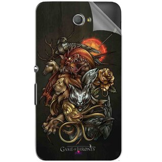Snooky Printed game of thrones wallpaper Pvc Vinyl Mobile Skin Sticker For Sony Xperia E4
