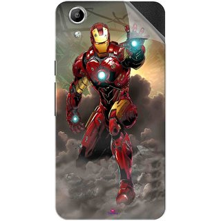 Snooky Printed Iron Man Power Pvc Vinyl Mobile Skin Sticker For Micromax Canvas Selfie Lens Q345