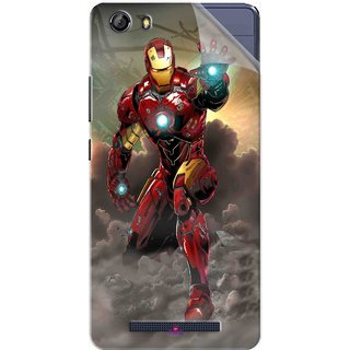 Snooky Printed Iron Man Power Pvc Vinyl Mobile Skin Sticker For Gionee Marathon M5