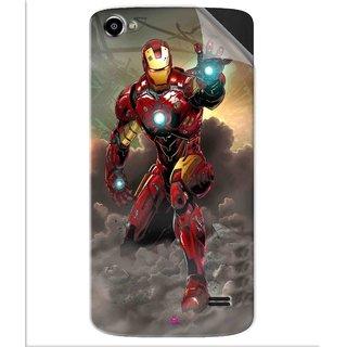 Snooky Printed Iron Man Power Pvc Vinyl Mobile Skin Sticker For Intex Aqua Star 2 HD