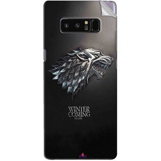 Snooky Printed game of thrones winter Pvc Vinyl Mobile Skin Sticker For Samsung Galaxy Note 8