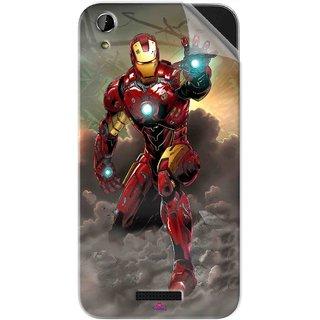 Snooky Printed Iron Man Power Pvc Vinyl Mobile Skin Sticker For Lava X1 Atom