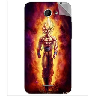Snooky Printed Goku cartoon Pvc Vinyl Mobile Skin Sticker For Htc Desire 516