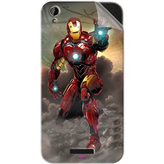 Snooky Printed Iron Man Power Pvc Vinyl Mobile Skin Sticker For Lava X1 Mini