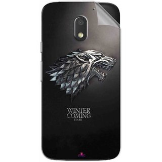 Snooky Printed game of thrones winter Pvc Vinyl Mobile Skin Sticker For Motorola Moto E3 Power