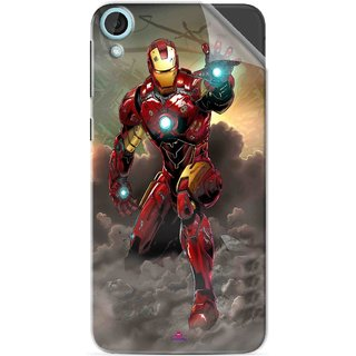 Snooky Printed Iron Man Power Pvc Vinyl Mobile Skin Sticker For HTC Desire 820