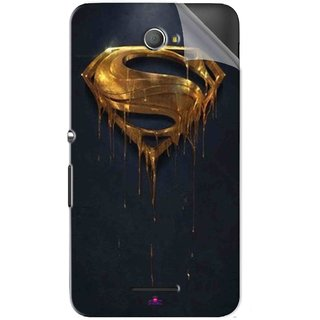 Snooky Printed Gold Super Man Pvc Vinyl Mobile Skin Sticker For Sony Xperia E4