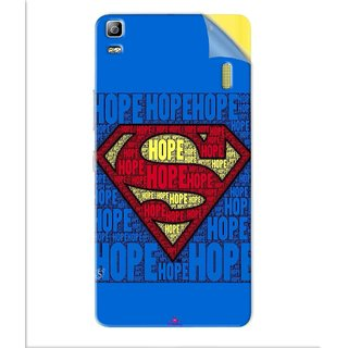Snooky Printed Hope Super Man Pvc Vinyl Mobile Skin Sticker For Lenovo K3 Note