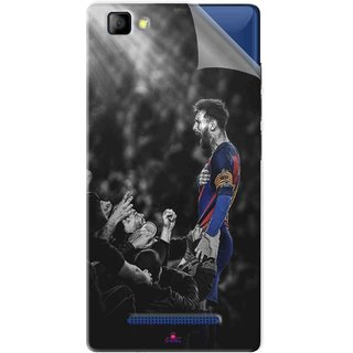 Snooky Printed lionel messi wallpaper 2017 Pvc Vinyl Mobile Skin Sticker For LYF Flame 8