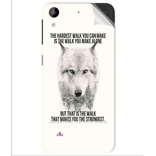 Snooky Printed lone wolf Pvc Vinyl Mobile Skin Sticker For Htc Desire 630