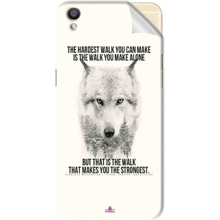 Snooky Printed lone wolf Pvc Vinyl Mobile Skin Sticker For Oppo F1 Plus