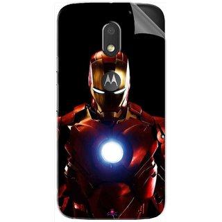 Snooky Printed Iron Man Heart Pvc Vinyl Mobile Skin Sticker For Motorola Moto E3