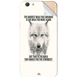 Snooky Printed lone wolf Pvc Vinyl Mobile Skin Sticker For Oppo F1s
