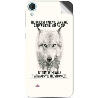 Snooky Printed lone wolf Pvc Vinyl Mobile Skin Sticker For HTC Desire 820