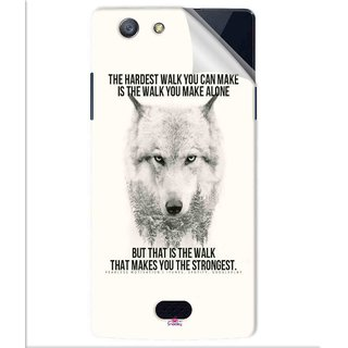 Snooky Printed lone wolf Pvc Vinyl Mobile Skin Sticker For Oppo Neo 5