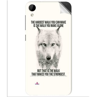 Snooky Printed lone wolf Pvc Vinyl Mobile Skin Sticker For Htc Desire 825