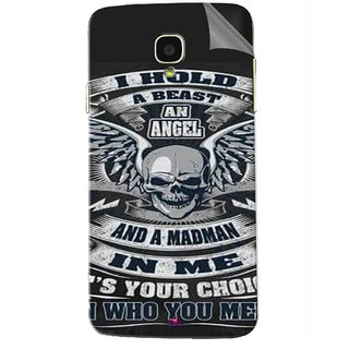 Snooky Printed I hold a best an angel Pvc Vinyl Mobile Skin Sticker For Micromax Bolt Q325
