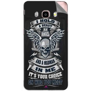 Snooky Printed I hold a best an angel Pvc Vinyl Mobile Skin Sticker For Samsung Galaxy J5 (2016)