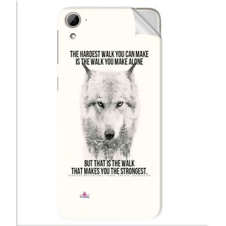 Snooky Printed lone wolf Pvc Vinyl Mobile Skin Sticker For Htc Desire 826