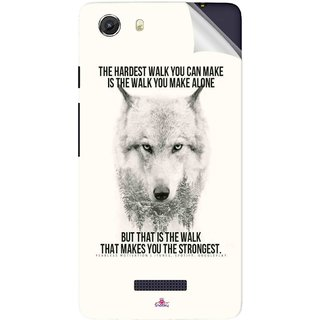 Snooky Printed lone wolf Pvc Vinyl Mobile Skin Sticker For Micromax Canvas Unite 3