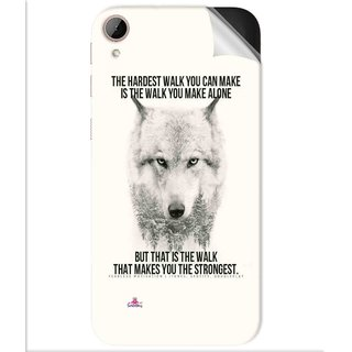 Snooky Printed lone wolf Pvc Vinyl Mobile Skin Sticker For Htc Desire 830