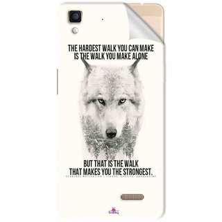 Snooky Printed lone wolf Pvc Vinyl Mobile Skin Sticker For Oppo R7