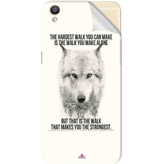 Snooky Printed lone wolf Pvc Vinyl Mobile Skin Sticker For Oppo R9