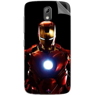 Snooky Printed Iron Man Heart Pvc Vinyl Mobile Skin Sticker For HTC Desire 526
