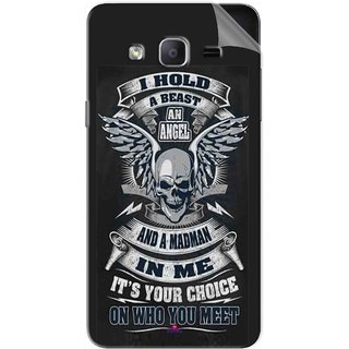 Snooky Printed I hold a best an angel Pvc Vinyl Mobile Skin Sticker For Samsung Galaxy On5 Pro