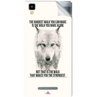Snooky Printed lone wolf Pvc Vinyl Mobile Skin Sticker For Panasonic Eluga A2