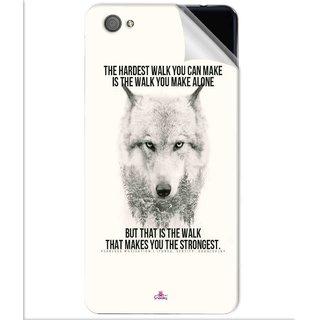 Snooky Printed lone wolf Pvc Vinyl Mobile Skin Sticker For Vivo X5 Pro