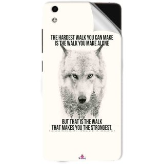 Snooky Printed lone wolf Pvc Vinyl Mobile Skin Sticker For LYF Water 5