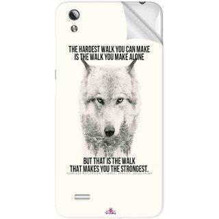 Snooky Printed lone wolf Pvc Vinyl Mobile Skin Sticker For Vivo Y17