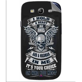 Snooky Printed I hold a best an angel Pvc Vinyl Mobile Skin Sticker For Samsung Galaxy S3
