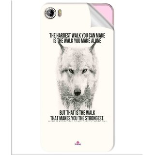 Snooky Printed lone wolf Pvc Vinyl Mobile Skin Sticker For Intex Aqua Glam